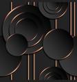 seamless pattern black circles gold contour vector image vector image