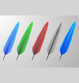 set feathers vector image