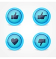set glossy internet icons vector image vector image