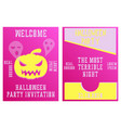 set of halloween concepts pumpkin and spider web vector image vector image