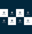set star logo line style vector image