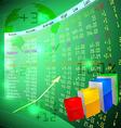 Stock exchange on screen vector image vector image