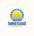 sunset logo template logo vector image vector image