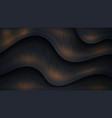 textured and wavy luxury dark background vector image vector image