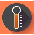 Thermometer icon temperature symbol Flat vector image