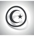 Turkey symbol sign sticker curved vector image vector image