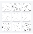 Universal doodle seamless patterns set vector image vector image