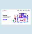 web site onboarding screens business consulting vector image vector image