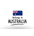 welcome to australia country flag logo card vector image