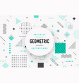 white modern geometric background design vector image vector image