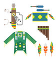 wild west american indian designed element vector image vector image