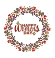Womens day invitation card Happy Womens day vector image vector image