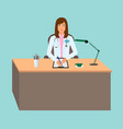 young woman doctor taking a patients medical vector image vector image