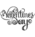 Happy valentines day Lettering design elements vector image