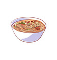 ramen soup isolated icon vector image