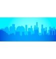 City skyline in minimalist style Silhouette vector image