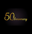 50 anniversary logo concept 50th years birthday vector image vector image