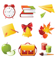 9 colorful school icons vector image