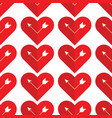 abstract holiday pattern with a arrow in heart vector image