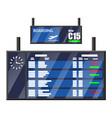 airport flip board departure arrival timetable vector image