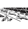 Aviation industry plant vector image vector image