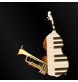 background music jazz instruments vector image