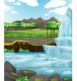 background scene with ice in park vector image vector image