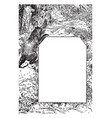 bear and a wolf in this design vintage engraving vector image vector image