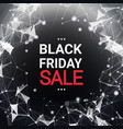 black friday sale text over abstract geometrical vector image vector image
