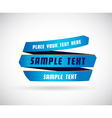 Blue origami paper with place for your own text vector image vector image