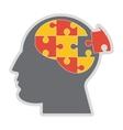 brain in puzzle pieces icon vector image