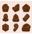 chocolate cookies for Christmas and New Year vector image vector image