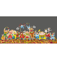 Circus performance parade crowd vector | Price: 3 Credits (USD $3)