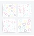 Color universal geometric seamless patterns set vector image