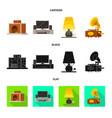 comfort and equipment logo vector image