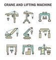 crane icon vector image vector image
