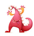 Cute funny monster dino characters one eye