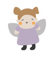 cute kids character kid vector image