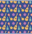day dead mexican celebration guitar vector image vector image