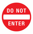 do not enter round sign eps10 vector image vector image
