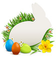 easter rabbit postcard vector image
