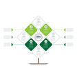 eco business presentation concept with four vector image