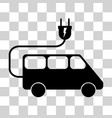 electric minivan sign vector image vector image