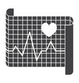 electrocardiography icon vector image vector image