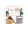 filing taxes yourself abstract concept vector image vector image