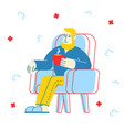 flu and sickness concept sick person having cold vector image