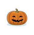 Halloween Grinning Pumpkin vector image