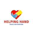 Helping Hand adult and children logo icon charity vector image vector image