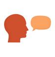 human head silhouette talking through speech vector image vector image