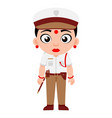 indian lady traffic police inspector government vector image vector image